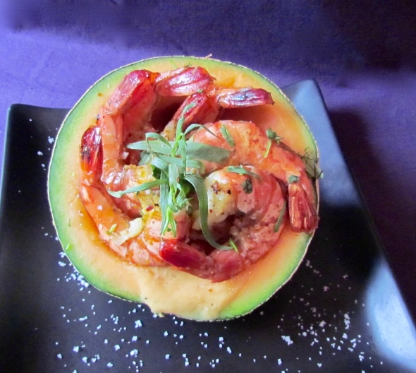 Melon Prawns 3