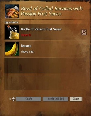 Grilled Bananas with Passion Fruit Sauce