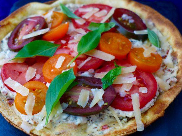 Zucchini-Salad-and-Pizza-Bianco-1