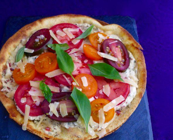 Zucchini-Salad-and-Pizza-Bianco-2