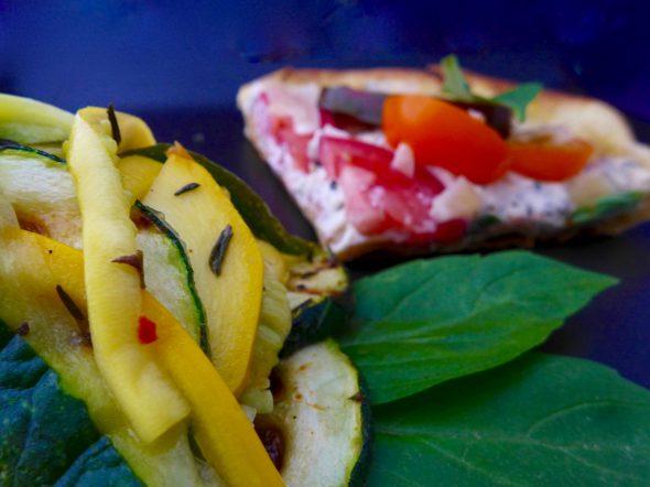 Zucchini-Salad-and-Pizza-Bianco-6