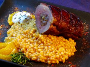 Bacon-Date-Walnut-Stuffed-Duck-and-Blood-Orange-Barley-Risotto-5