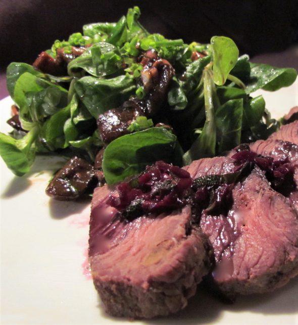 Ostrich-Steaks-Warm-Mushroom-Salad-3