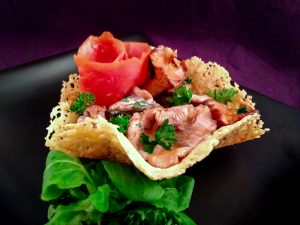Roasted-Chanterelles-Smoked-Salmon-Pecorino Cups-2