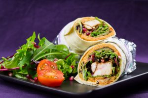 Spicy-Chicken-Wrap-Tomato-Hummus-Grilled-Vegetables-4