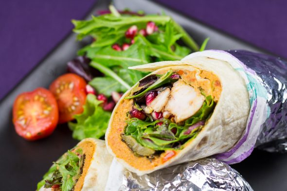 Spicy-Chicken-Wrap-Tomato-Hummus-Grilled-Vegetables-5