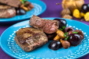 Venison-Steaks-Chestnut-Cherry-Chanterelle-Ragout-1
