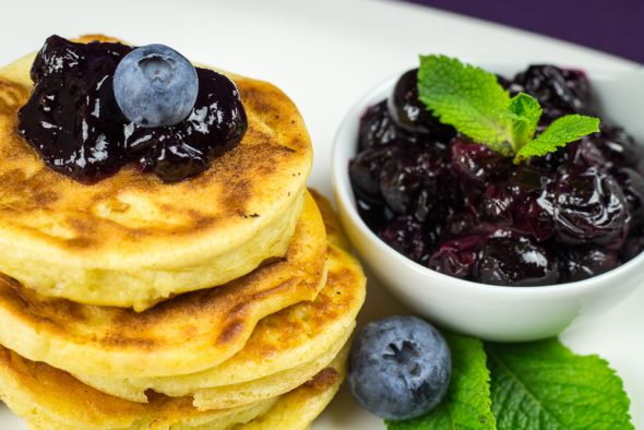 Buttermilk-Apple-Pancakes-Blueberry-Compote-2