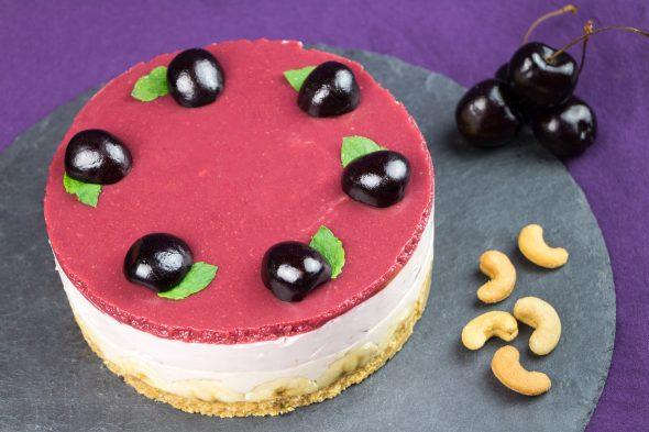 Black-Cherry-Banana-Maple-Sirup-No-Bake-Cheesecake-2