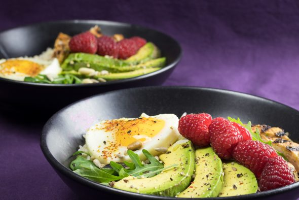 Lemony-Turkey-Bowl-Avocado-Raspberries-3
