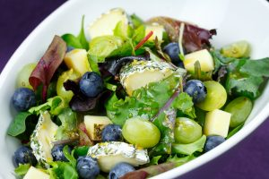 Wild-Herb-Cheese-Salad-Grapes-Blueberries-Maple-Syrup-Lemon-Dressing-3