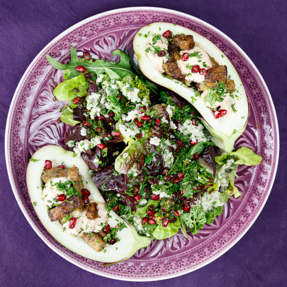 Eggplant-Stirfry-Toasted-Barley-Pomegranate-Salad-4