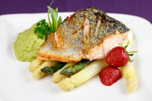 Crispy-Pan-Seared-Salmon-Pea-Purée-Asparagus-Pastis-Tarragon-Sauce-1