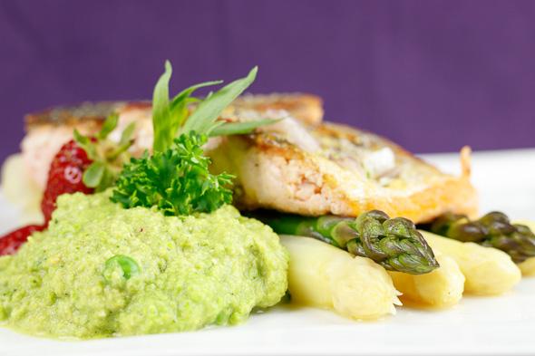 Crispy-Pan-Seared-Salmon-Pea-Purée-Asparagus-Pastis-Tarragon-Sauce-4