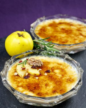 Goat-Cheese-Crème-Brûlée-Speedy-Spicy-Rosemary-Quince-Compote-4