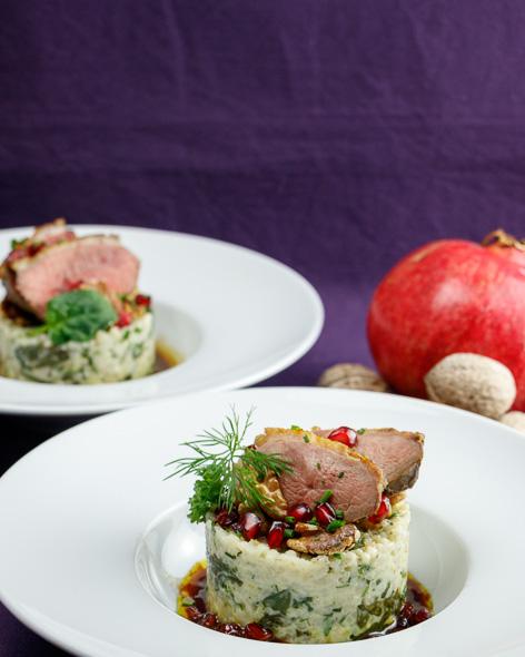 Pomegranate-Walnut-Duck-Creamy-Barley-Spinach-Salad-2