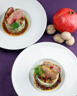 Pomegranate-Walnut-Duck-Creamy-Barley-Spinach-Salad-3