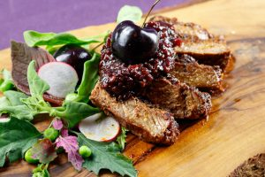 Coffee-Rubbed-T-Bone-Steaks-Black Cherry-Malt-Beer-Glaze-5