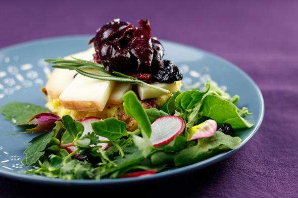 Herby-Polenta-Tiles-Black-Cherry-Red-Onion-Chutney-Taleggio-Cheese-1