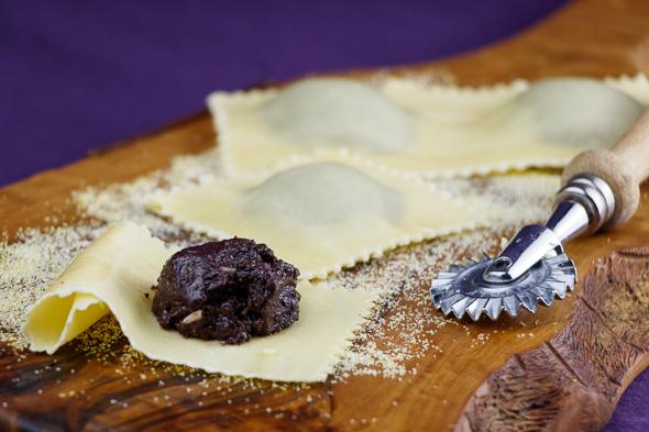 Olive-Prune-Ravioli-Lemony-Pecorino-Sauce-2