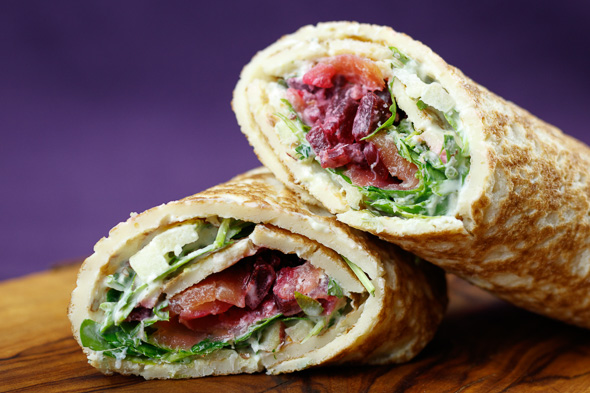 Smoked-Salmon-Herb-Crêpes-Apples-Beets-2