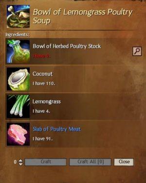 Lemongrass Poultry Soup