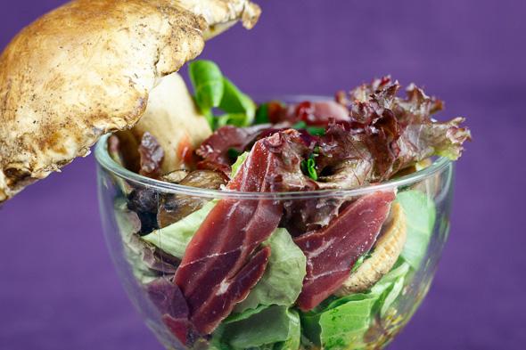 Wild-Mushroom-Salad-Smoked-Duck-Breast-Maple-Syrup-Vinaigrette-3