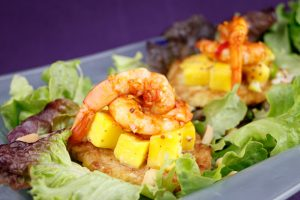 Sweet-Potato-Rösti-Griddled-Mango-Relish-Chilli-Prawns-4