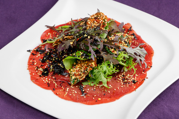 GW2-Sesame-Ginger-Beef-Carpaccio-Crispy-Fried-Lime-Leaves-1