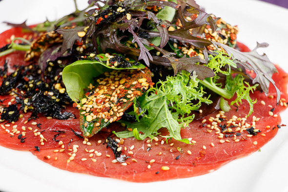 GW2-Sesame-Ginger-Beef-Carpaccio-Crispy-Fried-Lime-Leaves-2