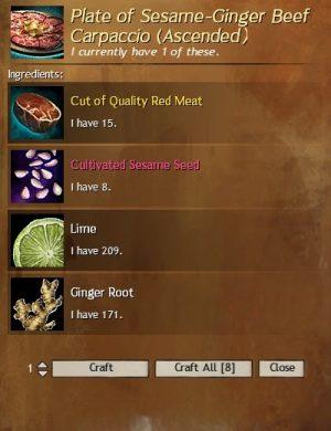 Sesame-Ginger Beef Carpaccio