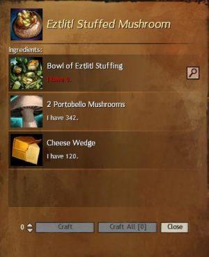 Etztlitl Stuffed Mushroom