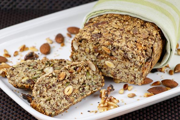 Gluten-Free-Paleo-Nut-Bread-Fennel-Orange-Cured-Salmon-Caramelized-Greengage-Rosemary-Jam-1