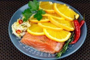 Gluten-Free-Paleo-Nut-Bread-Fennel-Orange-Cured-Salmon-Caramelized-Greengage-Rosemary-Jam-2