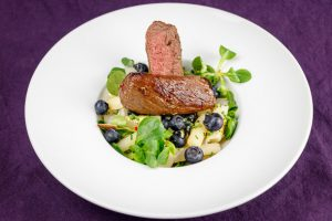 Venison-Steak-Black-Salsify-Blueberry-Salad-1