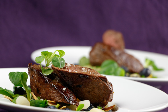 Venison-Steak-Black-Salsify-Blueberry-Salad-3