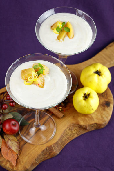 Yoghurt-Quince-Mousse-Quince-Compote-2