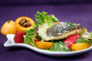 Pan-Seared-Hake-Wild-Herb-Loquat-Asparagus-Salad-Raspberry-Vinaigrette-3